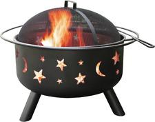 New listing Landmann 28345 Big Sky Stars and Moons Firepit, Black, New