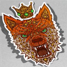 King Fox Cara Pegatina de Vinilo Calcomanía ventana de coche furgoneta bicicleta 3536