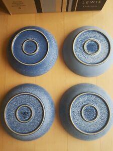 Denby Reflex Blue set of 4 Pasta bowls used