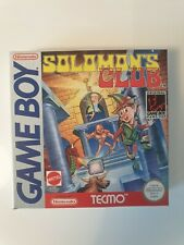 MATTEL SOLOMON'S CLUB SOLOMONS Nintendo Gameboy Game boy Boxed boite DMG-SC-ITA