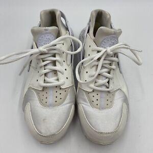 Nike Air Huarache Run Ultra Triple Whites Women's Size 9 Shoes 634835-108