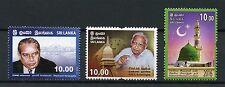 Lo Sri Lanka 2016 MNH senanayake kulasinghe National meelad-un-nabi 3V Set timbri