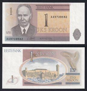 Estonia 1 kroon 1992 FDS/UNC  A-06