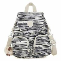 kipling Basic Eyes Wide Open Firefly Up Small Backpack Scribble Lines Weiß