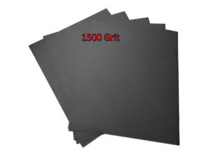 230x280mm Wet and Dry Sandpaper Abrasive Waterproof 1500 Grit 5 SHEETS Superfine