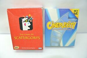 Lot of (2) Complete Party Board Games: 2003 Scattergories + 2007 Cineplexity