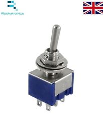 Mini Latching Toggle Switch DPDT ON-ON AC 6A/125V 3A/250V 6 Pin New Quality