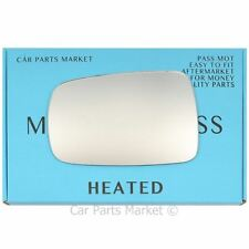 Left Passenger side Flat Wing door mirror glass for Honda CRX 1988-1991 heated