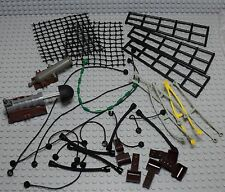 LEGO vrac bulk lot de pièces pour bateau filets cannon harnais flexible corde ..