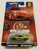 2007 Hotwheels Ferrari Racer F355 355 Challenge Green 14/24 60th Anniversary MOC