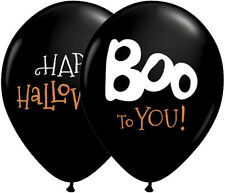 "HALLOWEEN PARTY SUPPLIES BALLOONS 10 x 11"" QUALATEX BOO TO YOU! LATEX BALLOONS"