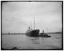 1903 Photo of S S Cymric outward bound c