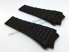 Comp. Porsche Design Dashboard P6620 32mm Black Rubber Watch Band-Strap 6620