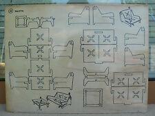 NUOVO La Nuova Faro tavola assicella di legno da traforare modQ Salotto traforo