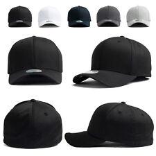 XL~2XL 60~63Cm Mens Plain Stretch Fit Flexfit Spandex Baseball Cap Trucker Hats
