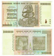 Zimbabwe 20 milliards de dollars P-86 2008 billets UNC