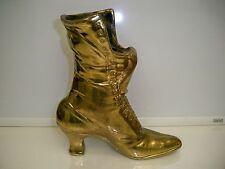 New listing Victorian Cast Metal Boot Shoe Planter Doorstop