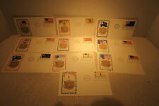 Set of 10 Unaddressed First Day Covers Jackson Chickering 1968 Flags