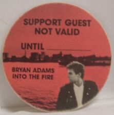 BRYAN ADAMS - ORIGINAL TOUR CONCERT CLOTH BACKSTAGE PASS  ***LAST ONE***