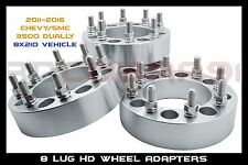 "8 lug GMC Sierra 3500 Super Duty Dually Wheel Spacer Adapters (3"") Thick 14x1.5"