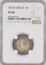 Greece  Silver Drachma 1873 A NGC XF-40 KM#38 King George I