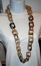 necklace monies tribal long rectangles links chain horn sautoir dead stock