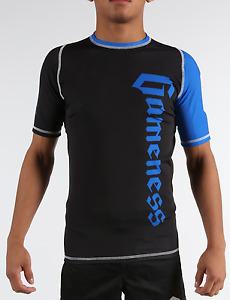 Gameness Blue Short-Sleeve Pro Rank Rash Guard