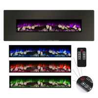 """1400W Electric Fireplace Wall Mounted + Stand Heater w/ Remote 5-Color, 48"""""""