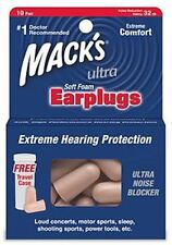 Macks Ultra Safe Sound Soft Foam Earplugs 10 Pairs