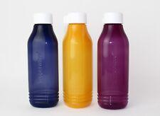 TUPPERWARE EcoEasy Trinkflaschen(3)Schraubverschluß weiß 750ml  blau/gelb/ lila