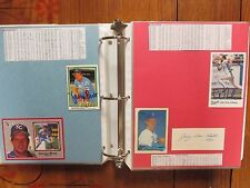 ROYALS(Notebook/140 Pages/100 Autographs/175 Players/GEORGE  BRETT/KIRK  GIBSON)