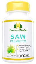Saw Palmetto, Natural Prostate Health Supplement, 580 Mg, 100 Veggie Capsules