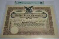 Harry Houdini Signed Houdini Picture Corporation Stock Certificate PMG 30 VF