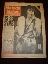 MELODY MAKER 1974 NOV 16 DAVID ESSEX JETHRO TULL RINGO STARR MOTT THE HOOPLE