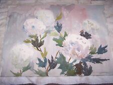 "Original Watercolors by Peg Humphreys, White Flowers 22 1/4""x 16"""