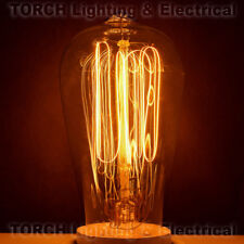 "Vintage ""Edison Look"" CLASSIC BULB ST58 Squirrel Cage Filament Bulb Lamp Light"