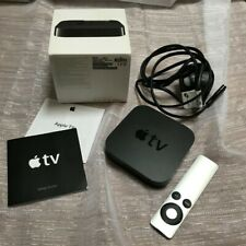 APPLE TV A1378 2ND GENERATION With APPLE Remote Control Power Lead Box & Leafle