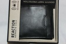 Kenneth Cole Reaction Men's Leather Black RFID Bifold Passcase Wallet $40