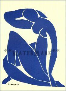 Henri Matisse 1952 Nu Bleu Cut Outs Vintage Poster Print Retro Style Decor Art