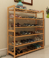 Bamboo Multi-level shoe racks book shelf bamboo bar shelves bamboo storage 竹条鞋书架