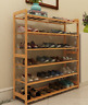 Bamboo Multi-level shoe racks book shelf bamboo bar shelves bamboo storage 竹条鞋书架