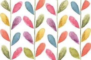 Beautiful 4 Reversible Plastic Placemats Multi-color Colorful Leaves