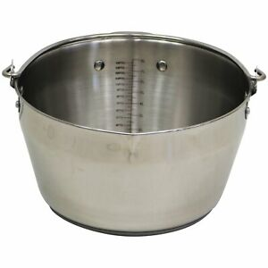 NEW! 9L Stainless Steel Maslin Jam Preserving Pan with Handle