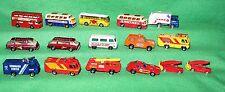 "*16 1970-1980's Matchbox Lesney City Type Diecast Vehicles Lot Loose 3"" Long"