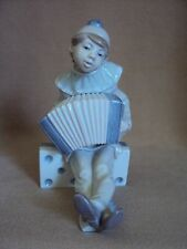 SALE - WAS $129 LLADRO  Clown on Domino  Boy with Accordian!!