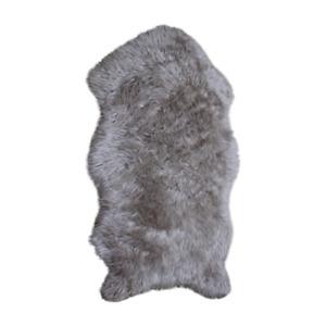 Genuine Lookalike Faux Sheepskin Rug Multicolor 2x3 ft Synthetic Sheep Fur Rug