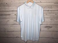 Vineyard Vines Mens Blue Printed Sankaty Performance Polo Shirt Size Large NWT