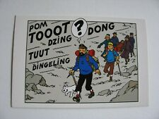 Carte postale Tintin au Tibet-neuf