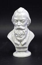 Porcelaine Buste Compositeur Brahms blanc Wagner & Apel H15cm 9942540