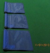 "PUTTING GREEN FLAGS -  SET OF 3 BLUE - SIZE 6""X8"""